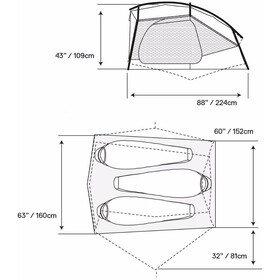 Mountain Hardwear Hylo 3 tent wit
